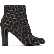 Soldes ! boots jacquard talon haut - feminin - noir - mademoiselle r