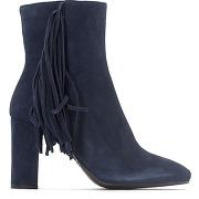Soldes ! boots velours vracaf - feminin - bleu - jonak