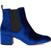 Bottines velours bleu what for femme