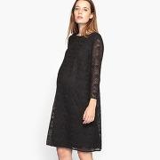 Soldes ! robe de grossesse en dentelle - feminin - noir - la redoute collections