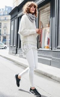 Pantalon blanc (La Redoute)