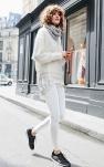 Comment porter le pantalon blanc en hiver ?