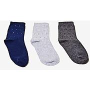 Chaussettes avec strass grises et bleues coloris divers jennyfer