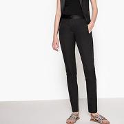 Pantalon crêpe envers satin noir