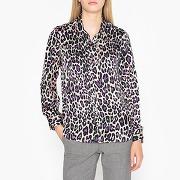 Chemise satin léopard lila léopard
