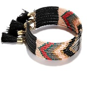 Bracelet, esprit ethnique multicolore-beige-taille unique-femme > accessoires > bijoux > bracelet