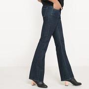 Jean flare stretch taille normale longueur 32 bleu brut