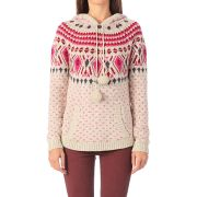 Pull avec laine kaisa knit poncho - only, oatmeal mélangé -