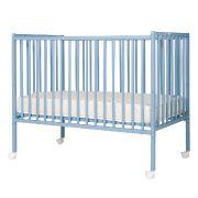 Combelle lit a barreaux plume bleu - meuble