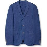 Veste blazer coton - masculin - bleu - esprit