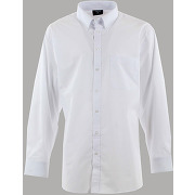 Chemise de ville col boutonné blanche - espionage grande taille homme