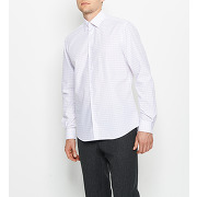Chemise droite à carreaux blanc arrow homme