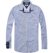 Soldes ! chemise coupe droite - masculin - bleu - hilfiger denim
