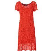 Robe d'été: la robe en maille (rouge) pour le femme - bodyflirt
