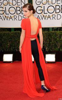 Emma watson robe corail
