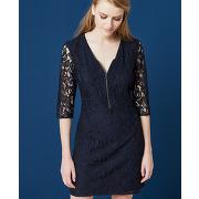 Riom - robe dentelle col zippé one step