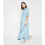 Soldes - longue robe chemise femme jean clair - promod