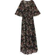 Robe longue imprimé floral - noir - femme - ikks