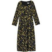 Robe longue imprimé floral costel - noir - femme - suncoo