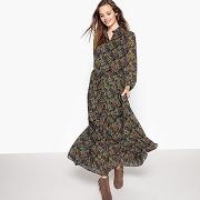 Soldes ! robe longue imprimée cachemire - feminin - bleu - see u soon