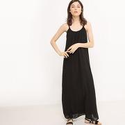 Soldes ! robe longue à fines bretelles - feminin - noir - r edition