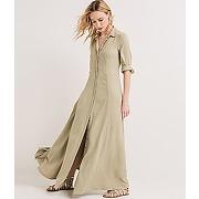 Longue robe femme mousse - promod