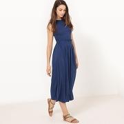 Soldes ! robe longue en maille, unie - feminin - bleu - atelier r
