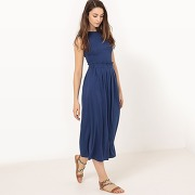 Soldes ! robe longue en maille, unie - feminin - rouge - la redoute collections
