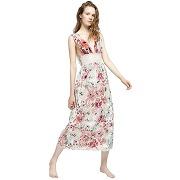 Robe longue décolleté multicolore - multicolore - femme - deby debo
