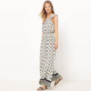 Soldes ! robe longue, fluide, imprimée - feminin - beige - la redoute collections