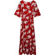 Robe longue rockhampton - rouge - femme - karl marc john
