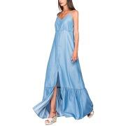 Robe longue en denim - bleu - femme - salsa