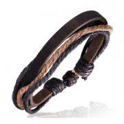 Bracelet homme zense zb0083 mode en cuir et avec cordes multi-couleurs et ajustable