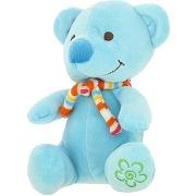 Peluche ourson tout doux jouet enfant bébé bleu promobo