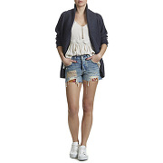 Short en jeans levi's 501 canyon morning bleu clair femme solde