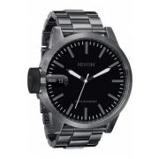 Montre nixon chronicle all gunmetal bracelet acier