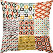Coussin de décoration patchwork, zala living