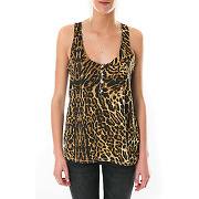 Top tank henley denim & supply ralph lauren leopard pour femme