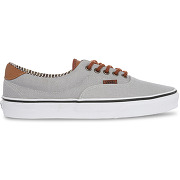 Baskets vans - era canvas cuir et toile grise