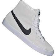 Nike - basket sneaker - primo court mid leather - beige gris blanc