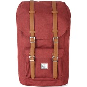 Sacs à dos herschel - sac à dos attache cuir little america 25l rouge