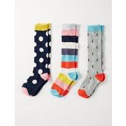 Lot de 3 paires de chaussettes hautes gris fille boden