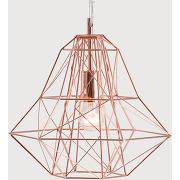 Suspension design made.com, luminaire, éclairage, cuivre, nook - made.com.