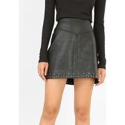 ✅mini jupe en simili cuir femme - couleur noir - taille 34 - pimkie - mode femme