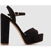 Soldes ! sandales synthétique - feminin - noir - la redoute collections