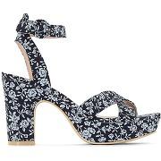 Soldes ! sandales coton - feminin - bleu - la redoute collections