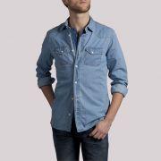Chemise denim bleu jean clair jules