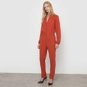 Combinaison-pantalon fluide rouge rouille