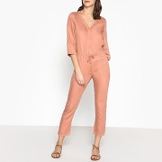 Combi-pantalon à manches 3/4 lexi rose poudre