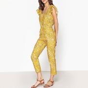 Combinaison pantalon imprimée olivia imprimé jaune